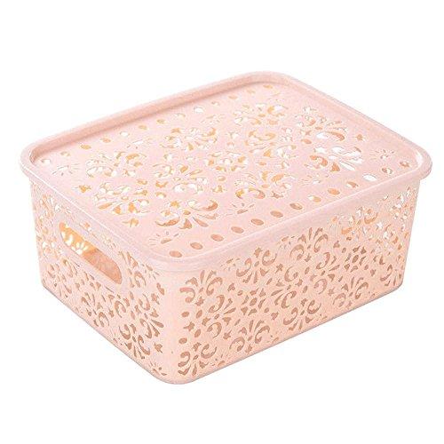 Hot Sale ! ღ Ninasill ღ Plastic Storage Basket Box Bin Container Organizer Clothes Laundry Home Holder (Beige)