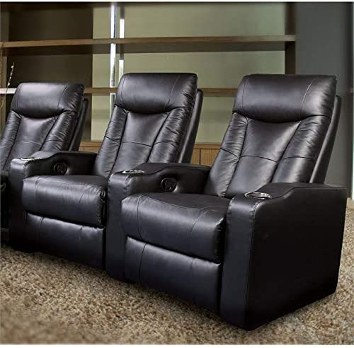 Coaster Home Furnishings Pavillion 3PC Home Theater Seating, Black