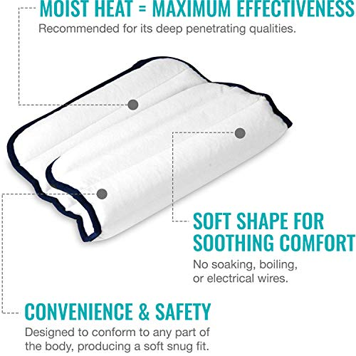 HealthSmart TheraBeads Portable Microwavable Moist Heating Pad with Washable Cover for Back Pain Relief, Muscle Aches, Arthritis and Sore Joints, Large 12 x 16