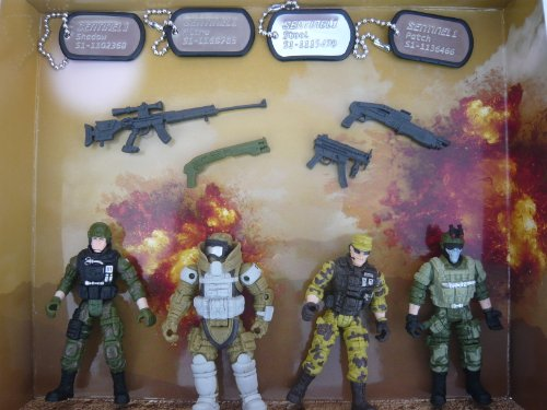 true heroes 4 inch military soldiers 4 pack sentinel 1 action figure pack