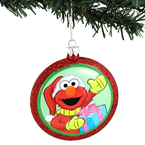 Sesame Street Kurt Adler Blow Mold Ornament Gift Boxed (Elmo Santa)