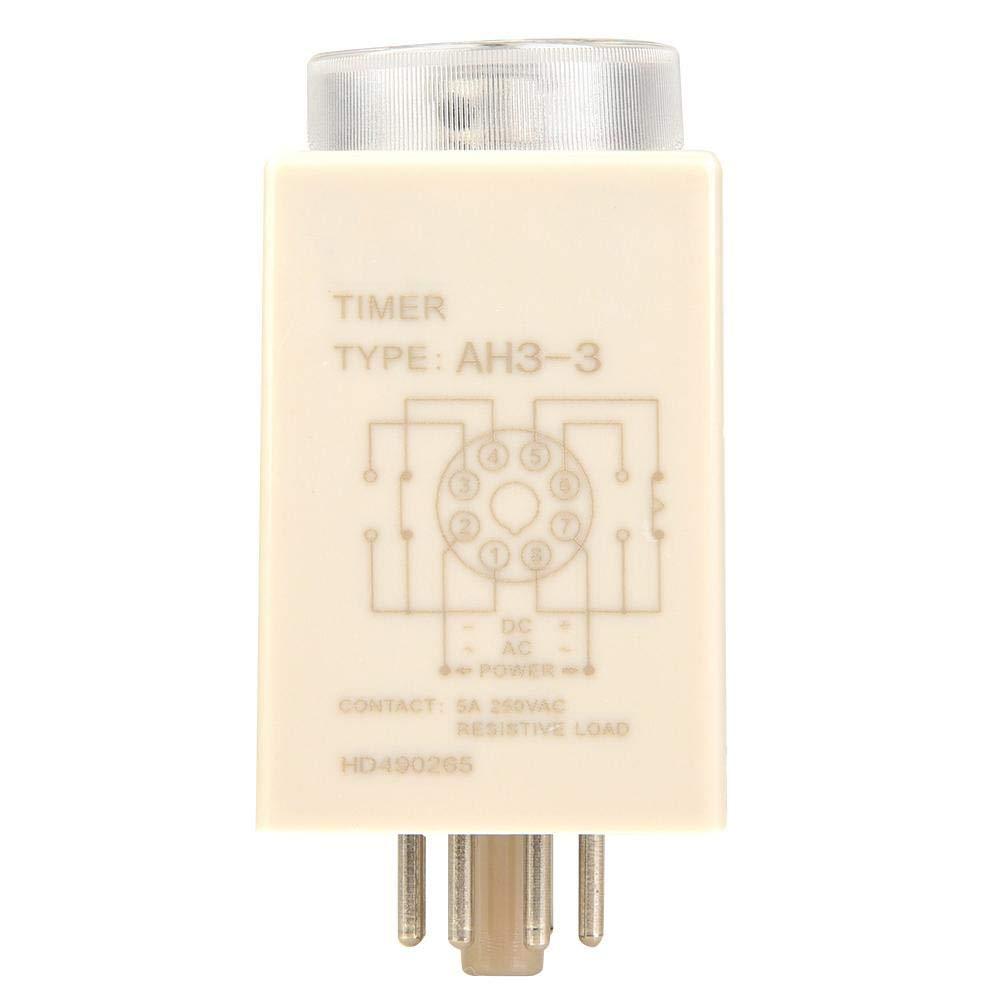 60Hz Zerone AH3-3 Zeitrelais f/ür Einschaltverz/ögerung AC 220V 50