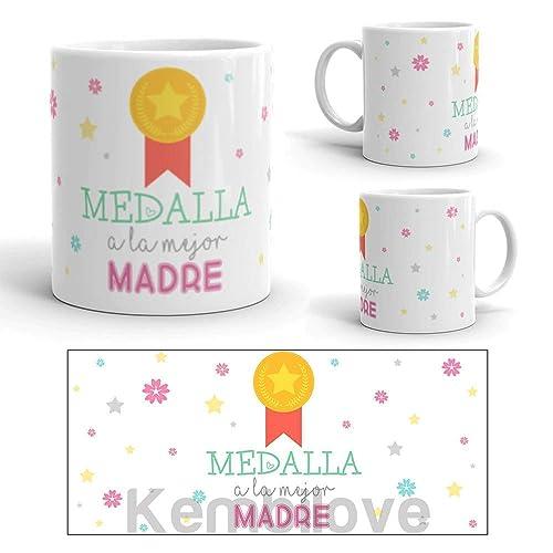 Kembilove Taza de desayuno para Madre - Taza de café Medalla ...