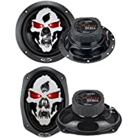 BOSS SK653 6.5 350W 3 Way + 6x9 SK694 700W 4 Way Car Coaxial Speakers Set