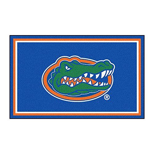 FANMATS NCAA University of Florida Gators Nylon Face 4X6 Plush Rug by Fanmats