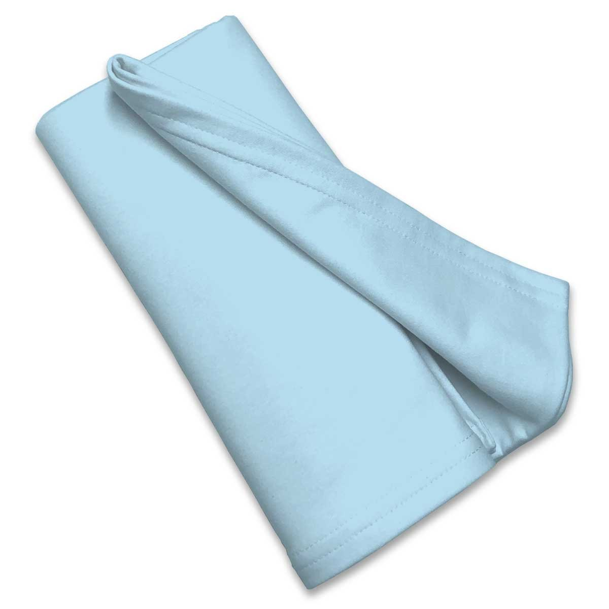 SheetWorld Flannel Receiving Blanket 30 x 45, Aqua Flannel, Made in USA by SHEETWORLD.COM