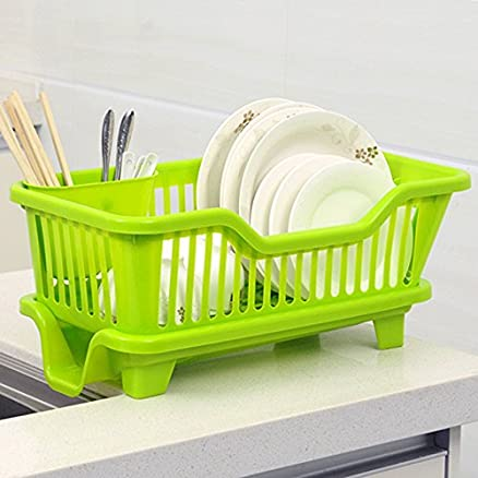 House of Quirk Kitchen Sink Dish Drainer Drying Rack Washing ...