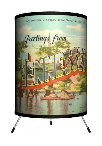 Lamp-In-A-Box TRI-TRV-TENNE Travel - Tennessee Postcard Tripod Lamp by Lamp-In-A-Box