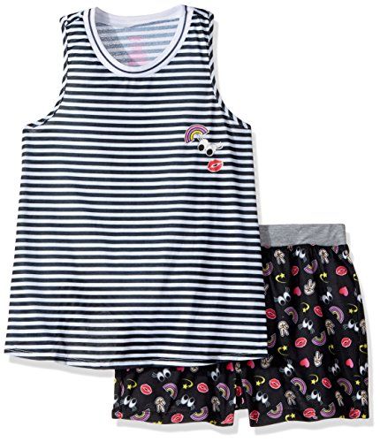 Candie's Big Girls' Tank and Short Set, Black/White Stripes, M by Candie's