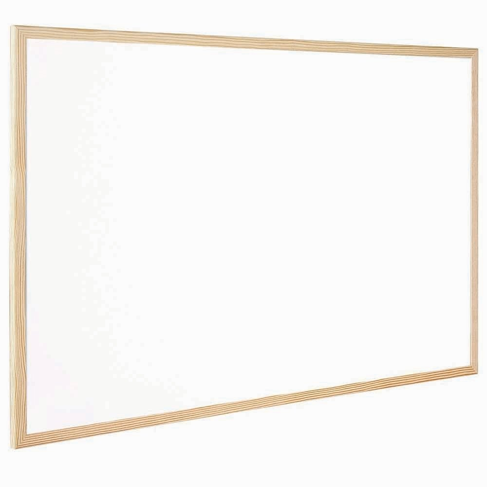 Q-Connect Whiteboard 900 x 600mm Wooden Frame