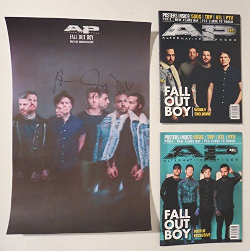 """Fall Out Boy REAL hand SIGNED 11x17"""" Alt Press Poster + Magazines COA #A Stump by Loa_Autographs"""