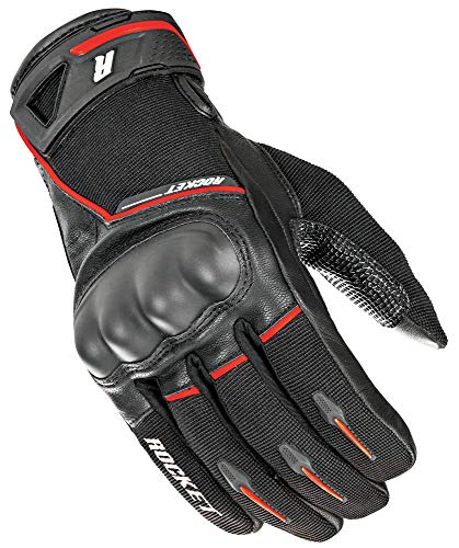 Joe Rocket Men's Super Moto Motorcycle Gloves (Black/Red, Small) (Supermoto Black Gloves)