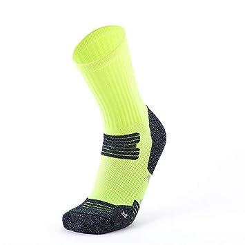 Huyizhi Calcetines Deportivos para Hombres Calcetines Altos de Baloncesto para Hombres Medias Suaves Respirables de Deporte