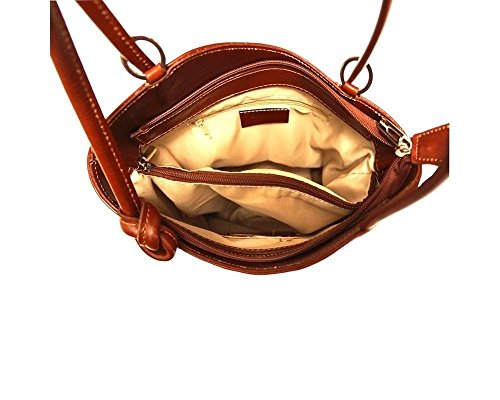 Florence Leather 207, Borsa a zainetto donna marrone Brown