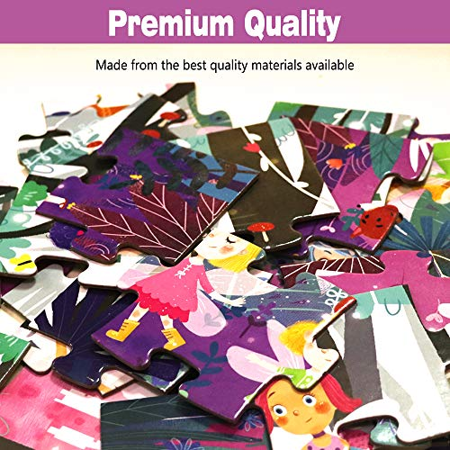Puzzles for Kids Ages 3-5 Premium 24 Piece Fairy Forest Floor Puzzles for Kids Ages 4-8, Preschool Jigsaw Puzzles Educational Toys for Boys & Girls 3 4 5 6 7 8 Years Old