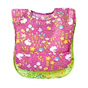 green sprouts 2 Piece Easy-Wear Toddler Bib Set, Pink