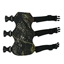 Archery Hunting Arm Guard Arm PU Leather Protector Left and Right Hand Bow Accessories (Camouflage)