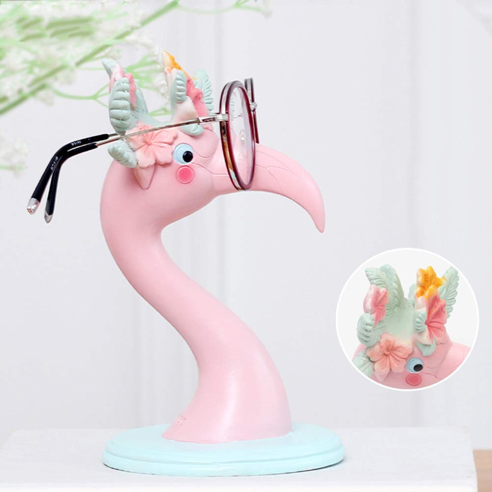 YeahiBaby Pink Flamingo Ornaments Eyeglass Display Holder Glasses Display Shelves Love Bird Flamingo Figurine Statues Home Office Desktop Decoration by YeahiBaby (Image #4)