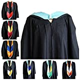GRADWYSE Education Master Hood Graduation Master Degree Hood, Various College Colors Available Light Blue (Gold/Black)