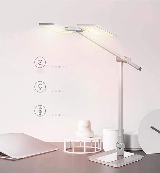 Lámpara LED de escritorio de dos cabezas Office Eye Care Office ...