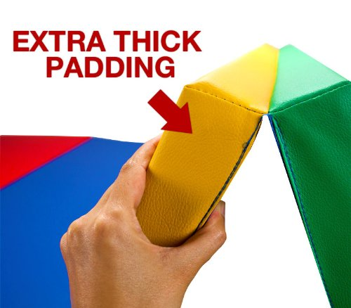 Folding Multi Color Gymnastics Tumbling Mat - 4ft x 6ft Unfolded! by Crown (Image #3)