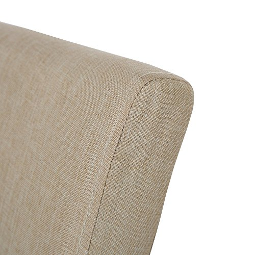 Glitzhome Padded Fabric Dining Chairs Beige, Set Of Two by Glitzhome (Image #3)'