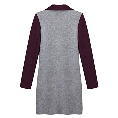 Bump Color Big Women Long sleeve button 4XL DYF COAT Lapel Picture Coat Windbreaker FYM size 4xXSZfqwW