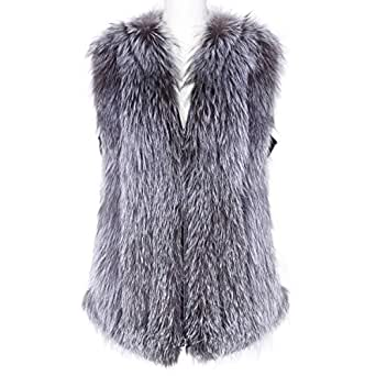 Grey Fur Vest For Women