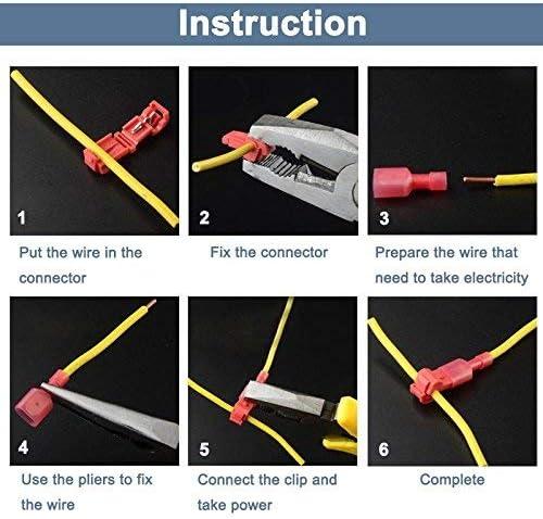 Ddbrand 60 Pi/èces /Électriques Auto-D/énudants /Électrique T C/âble Palette Connecteur Set C/âble Terminals Pince Assortiment Kits
