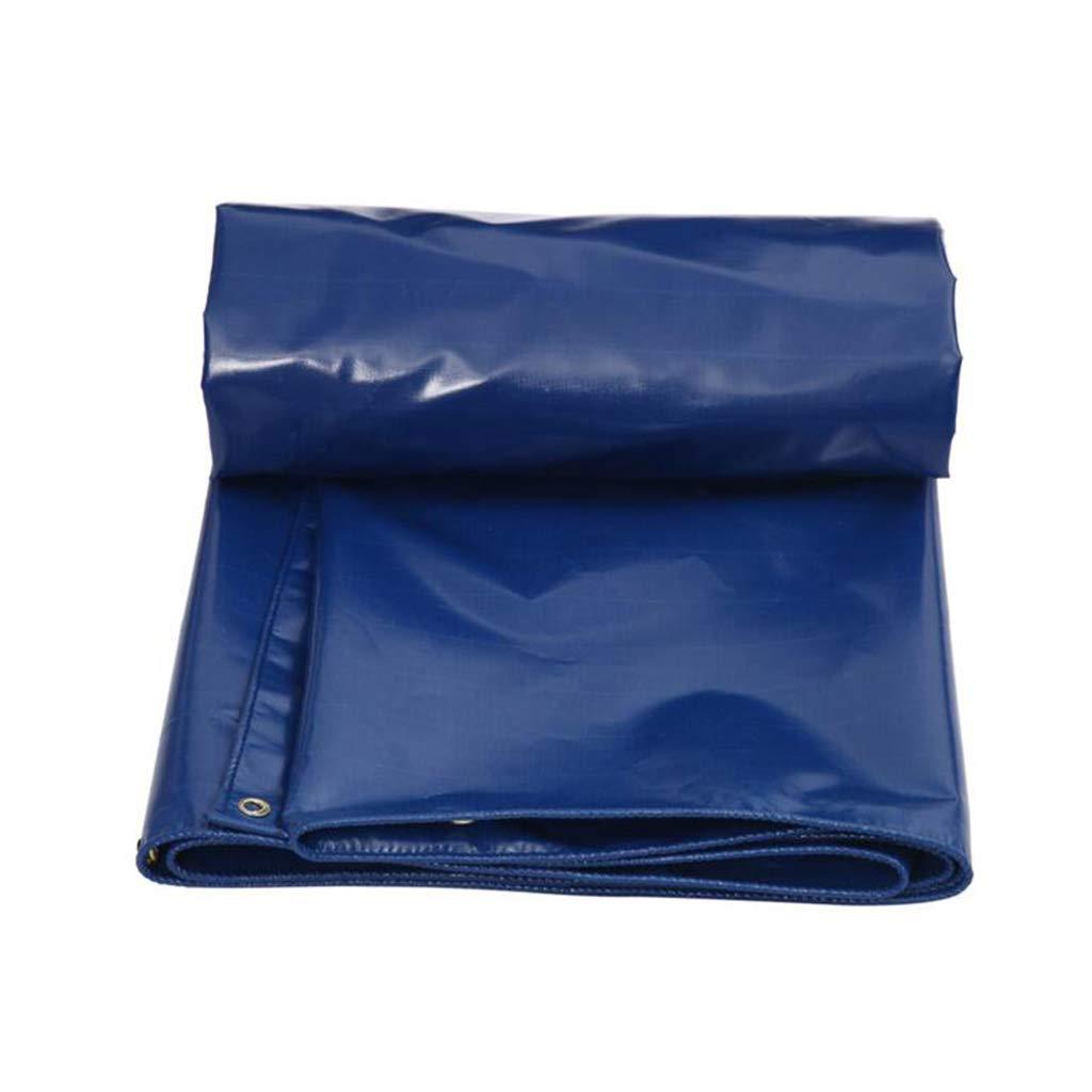 Home warehouse LKW-Transportplane, Außenzelttuch Verdicken Regenschutztuch Sonnencreme Schattenplanen Mehrere Größen Canvas Tuch Blau