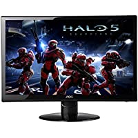 2017 Newest Premium High Performance AOC 27-Inch Class LED-Lit Monitor FHD 1920 x 1080 Resolution 250 cd/m2, 2ms, 20M:1DCR, VGA (2) HDMI, Wall Mountable