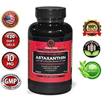 Astaxanthin 10mg 120 Softgels. Powerful Antioxidant & Anti-inflammatory Keto Carotenoid. Natural Algae Supplement. Recommended for: Skin, Joint, Brain, Eye, Cardiovascular & Immune System.