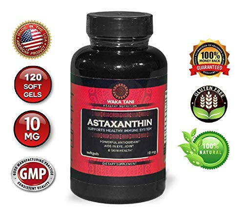 Astaxanthin 10mg 120 Softgels. Powerful Antioxidant & Anti-inflammatory Keto Carotenoid. Natural Algae Supplement. Recommended for: Skin, Joint, Brain, Eye, Cardiovascular & Immune