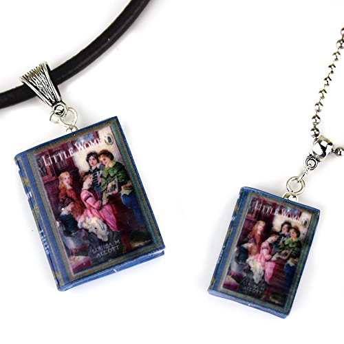 [LITTLE WOMEN Polymer Clay Mini Book Pendant Necklace by Book Beads Choose Your Necklace Type Louisa May Alcott] (Last Minute Halloween Costumes For Babies)