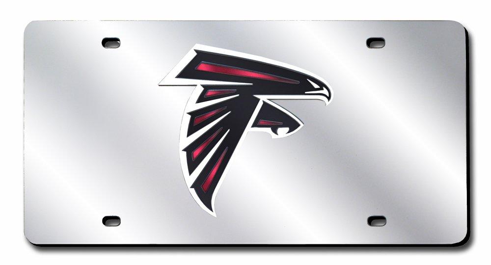 Rico Industries NFL Atlanta Falcons Laser Inlaid Metal License Plate Tag