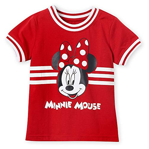 Disney Minnie Mouse Red Ringer T-Shirt for Girls Size XS (4) Multi (Girls Ringer T-shirt)