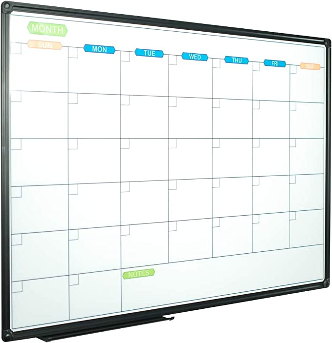 Set of 3,16.5 x 12 inches Spanish Magnetic Monthly Dry Erase; Sticks to Whiteboards and Refrigerators and Daily Calendar Combo Pack Weekly