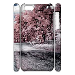 3D IPhone 5C Case Through the Pink Woods, Dustin, {White}
