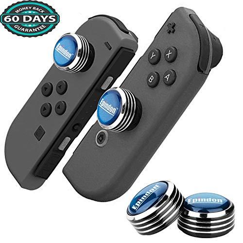 Epindon FPS Thumb Grips Analog Caps for Nintendo Switch Joy-Con & Switch Lite - NavyBlue