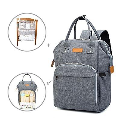 Anzirose Mochila de pañales Viaje Diaper Backpack Gran Capacidad resistente al agua bolsa de pañales hombro
