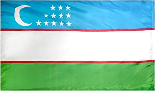 product image for Annin Flagmakers Model 973719 Uzbekistan Flag 3x5 ft. Nylon SolarGuard Nyl-Glo 100% Made in USA to Official United Nations Design Specifications.