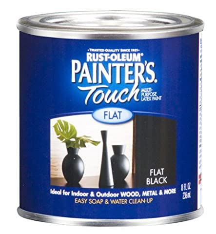Rust-Oleum 1976730 Painters Touch Latex, Flat Black by Rust-Oleum (Painters Touch Flat Black)