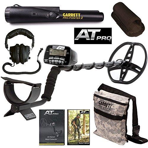 Garrett AT Pro Detector de metales con puntero Pro II y bolsa de camuflaje de cavar: Amazon.es: Jardín