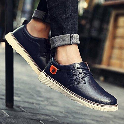 Men's Shoes Feifei Winter Fashion Casual Leather Shoes 4 Colors (Color : 02, Size : EU43/UK9/CN44)