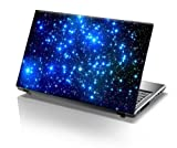 TaylorHe 15.6 inch 15 inch Laptop Skin Vinyl Decal with Colorful Patterns and Leather Effect Laminate MADE IN BRITAIN Blue Stars in Space