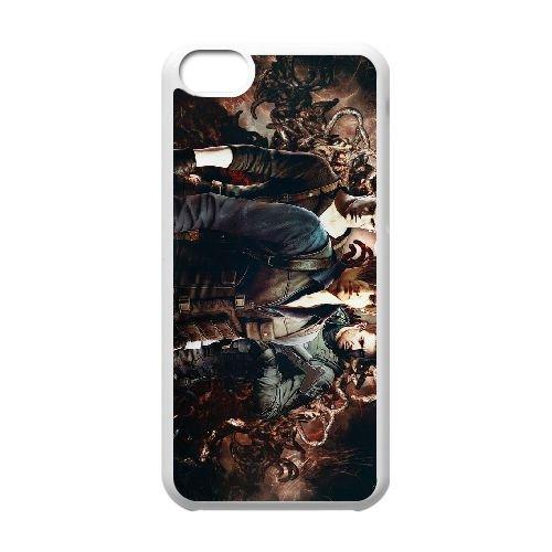 N9R99 Resident Evil H2S3BQ cas d'coque iPhone de téléphone cellulaire 5c couvercle coque blanche IK2VDJ6UB