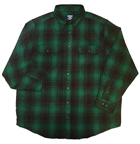Green Plaid Flannel Shirt (Faded Glory Classic Green Plaid Men's Cotton Flannel Shirt - Medium (38-40))