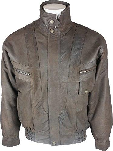 UNICORN Hommes Classique Manteau de cuir - Réel cuir veste - Foncé Marron #HD