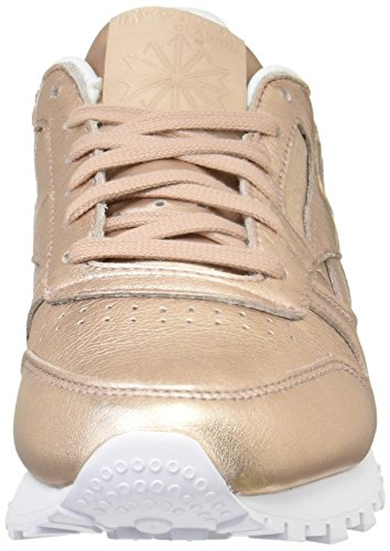 Metallic peach White Reebok Low Leather Classic Damen Sneakers Top Orange L Pearl W7HzqU