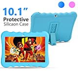 Kids Tablet PC 10 inch 3G GSM IPS 1280800 5.0M Rear and 2.0M Front Cameras Dual SIM Card Slots 1GB RAM 16GB Storage Quad-core 1.3GHZ Cortex-A7 with Shockproof Silicon Case for Kids (Pink) (Blue)